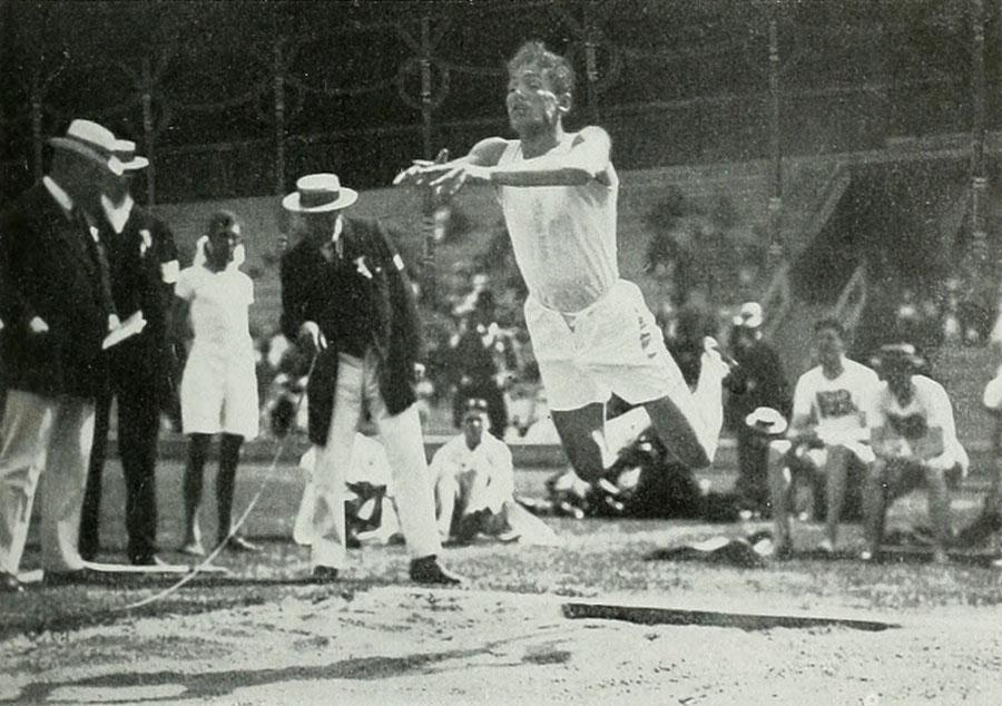 1912 gold medalist Konstantinos Tsiklitiras went 3.37 (11-0 3/4) at the Stockholm Games.
