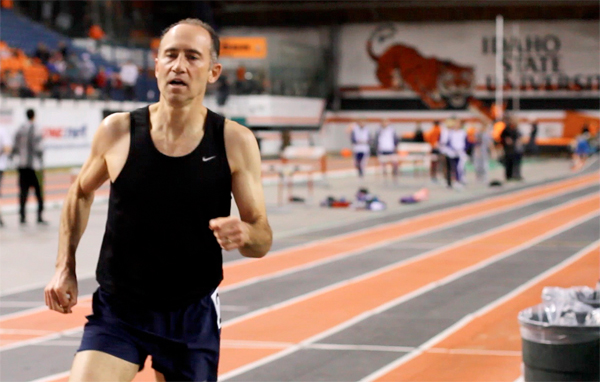 Brad is gunning for mile WR at a Feb. 2 meet. (Photo by Matt Garner)