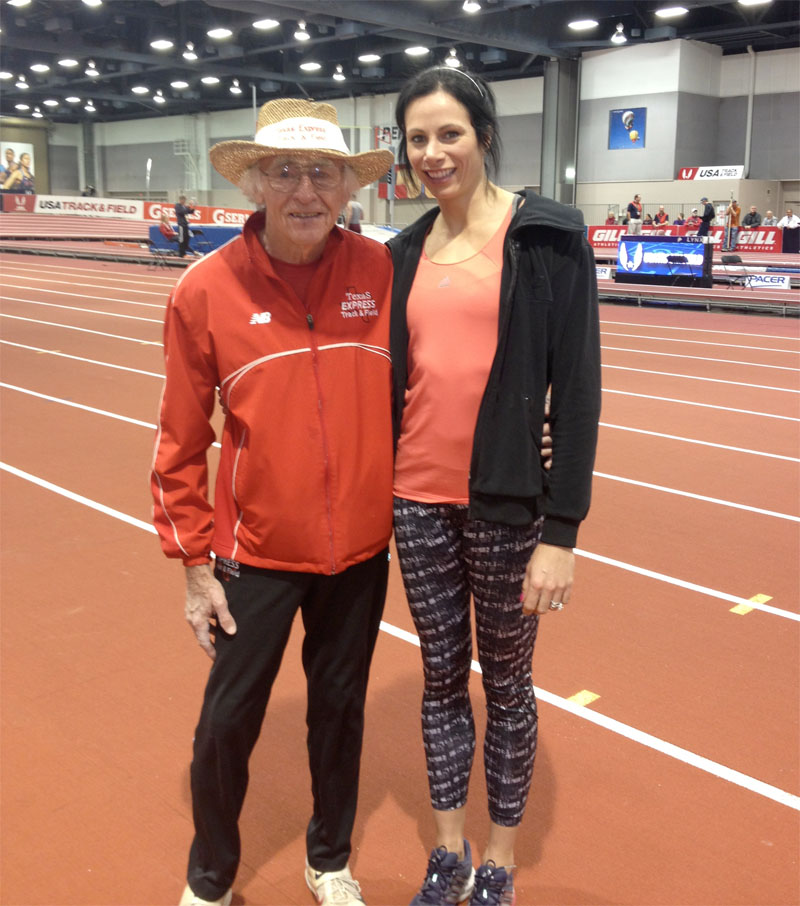 Don and Jenn, just two peas in a pole vault record pod at USA nationals.