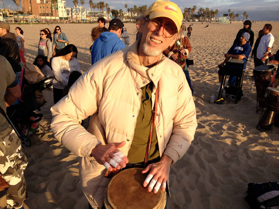 My brother Al attended his last Venice Beach drum circle on April 13, 2013. He took part every Sunday and called it his church.