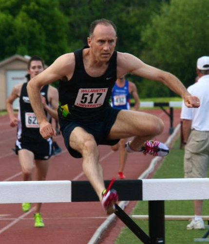 Brad says he felt rusty over hurdles, but this shot by Scott Bassett indicates he was pretty nifty.