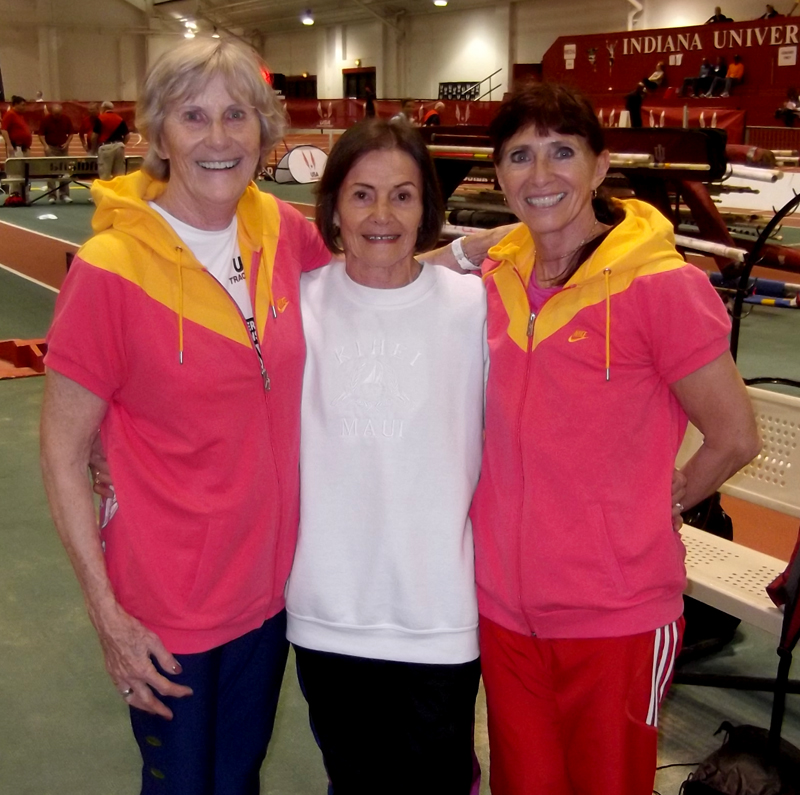 Christel, Christa and Phil Raschker (right) at recent meet.
