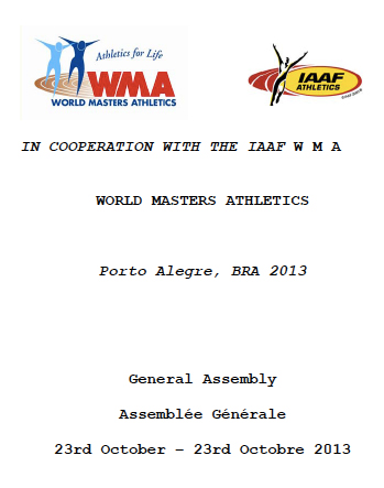 General Assembly booklet for 2013 WMA