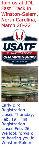 2015 USATF Masters Indoor Championships, JDL Fast Track, Winston-Salem, NC