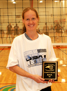 Anne was a volleyball MVP a few years ago.