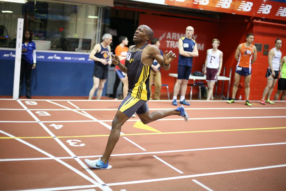 Anselm finishes mile WR (4:34.79) at Armory. Photo via Armory site.