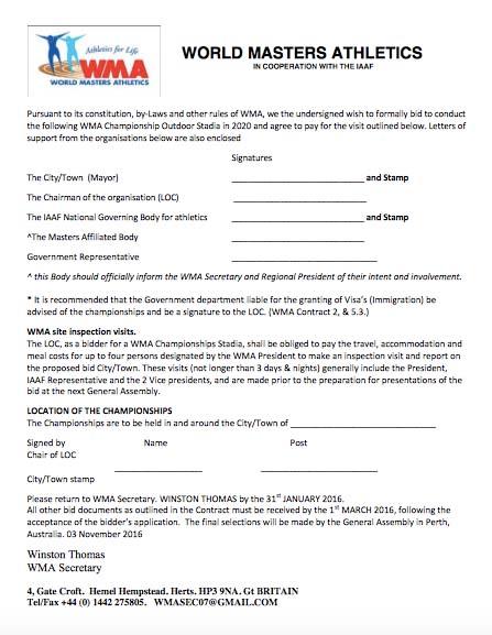 WMA 2020 outdoor worlds bid form (PDF)
