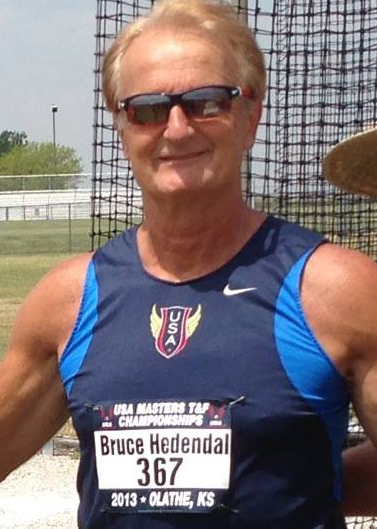 Bruce posted his track photo on Facebook.