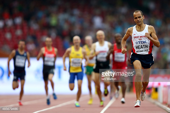 Getty Photos covered masters races well. Here;s David leading 800.