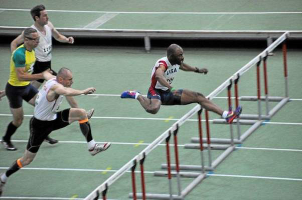 Derek Pye was 2014 world champ at Budapest.  At Jacksonville, he ran out of Lane 1.