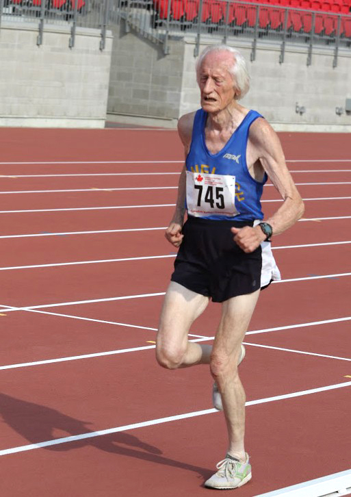 Ed during 10K WR at nationals. Photo by Doug Smith