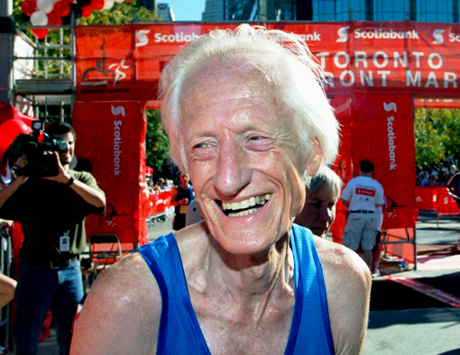 Ed at the 2013 Toronto Waterfront Marathon.
