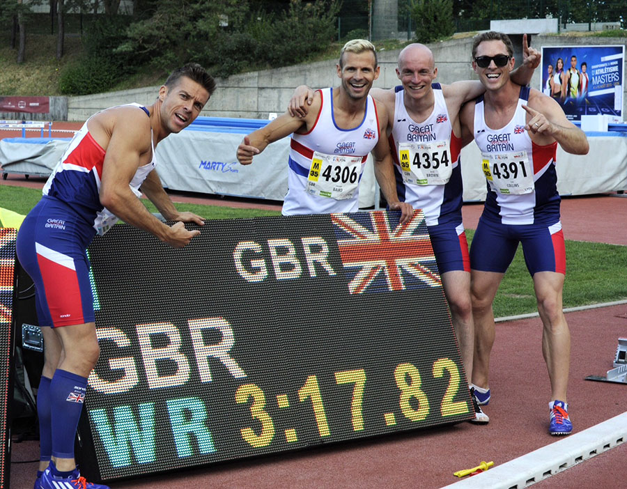 Brits celebrate W35 WR, bettering listed mark of 3:19.45 by U.S. team at Winston-Salem nationals