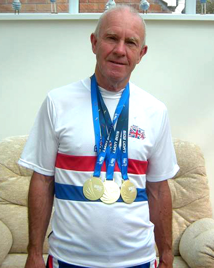Glyn and his world golds.