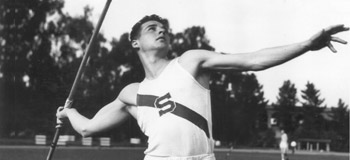 Bud developed modern javelin as a Stanford engineering student in the early 1950s.