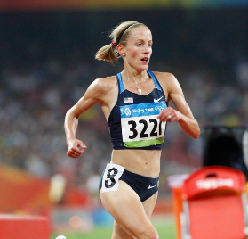 Jen Rhines made the 2008 Olympic 5K final.