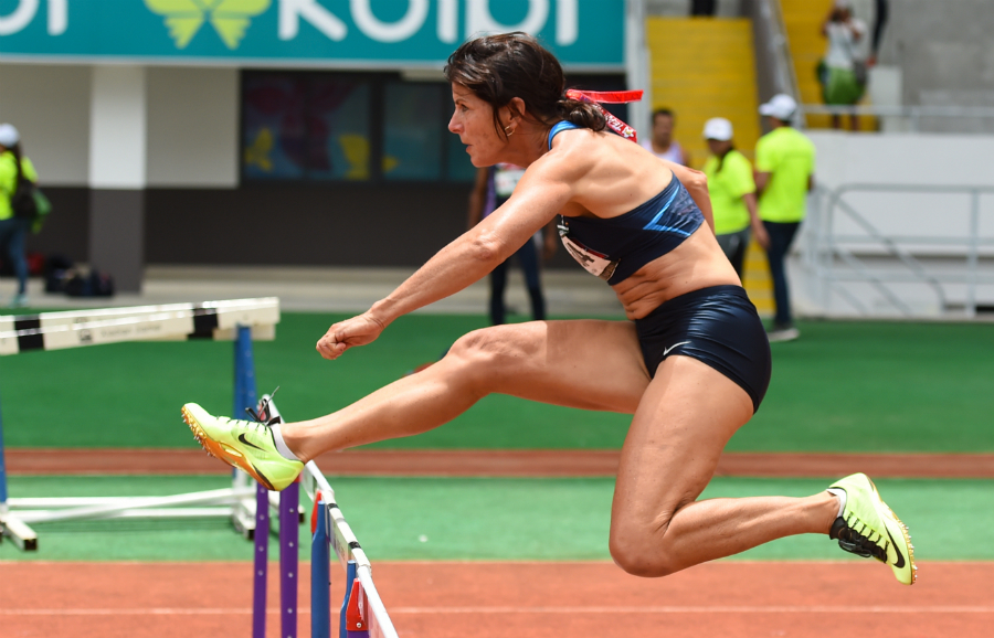 Joy, in Costa Rican hurdles, also starred at Budapest indoor worlds.