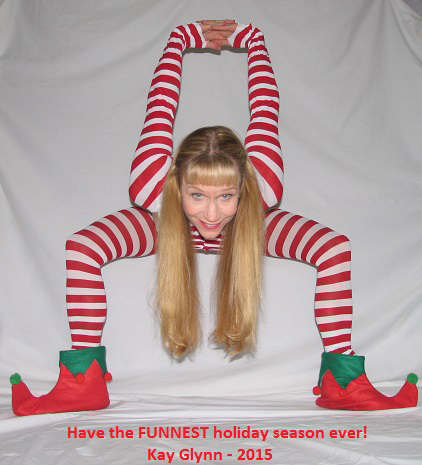 Click for Kay in all candy cane glory.