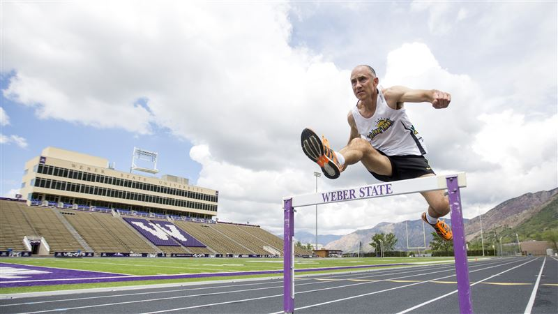 Brianna Scroggins photo of Brad training for rtturn to the Trials. He made steeplechase semis in 1992.