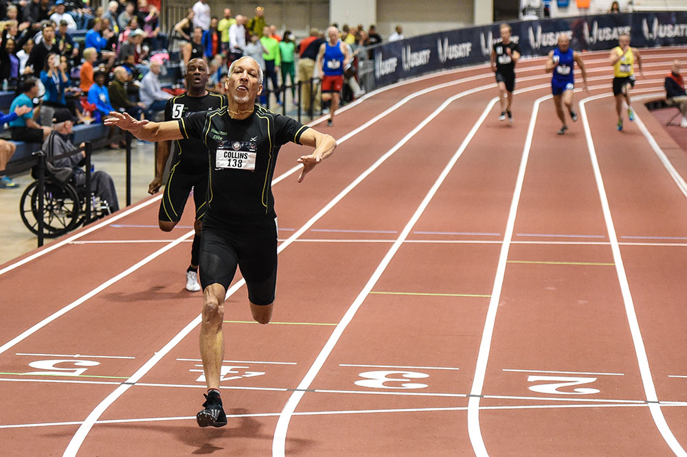 Bill Collins, 65, beats buddy Charles Allie, 68, to set M65 WR of 24.94  at 200. Charlie held the listed WR of 25.41.