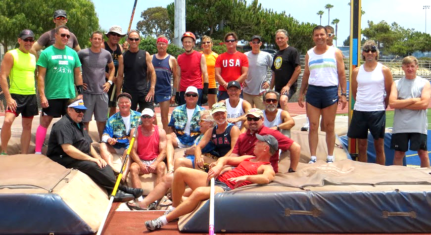 Team shot of participants in Bubba's clinic/meet in Dana Point.