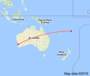 It's only 4,000 miles from Fiji to Perth.