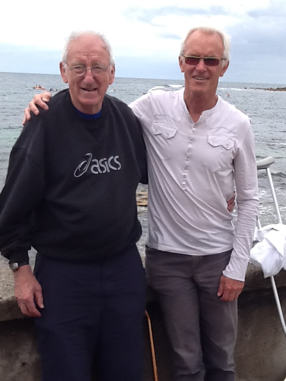 Reg and Peter Crombie.