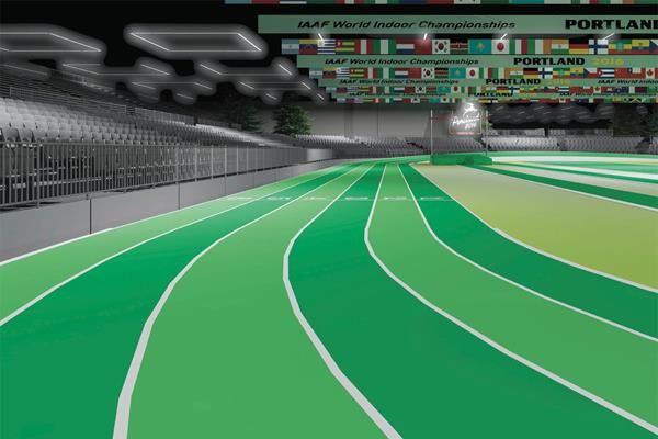 Portland's green indoor track would be good for WMA as well.