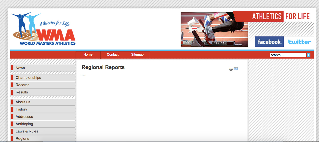 WMA website shows this blank page where regional reports should be. Aw c'mon!