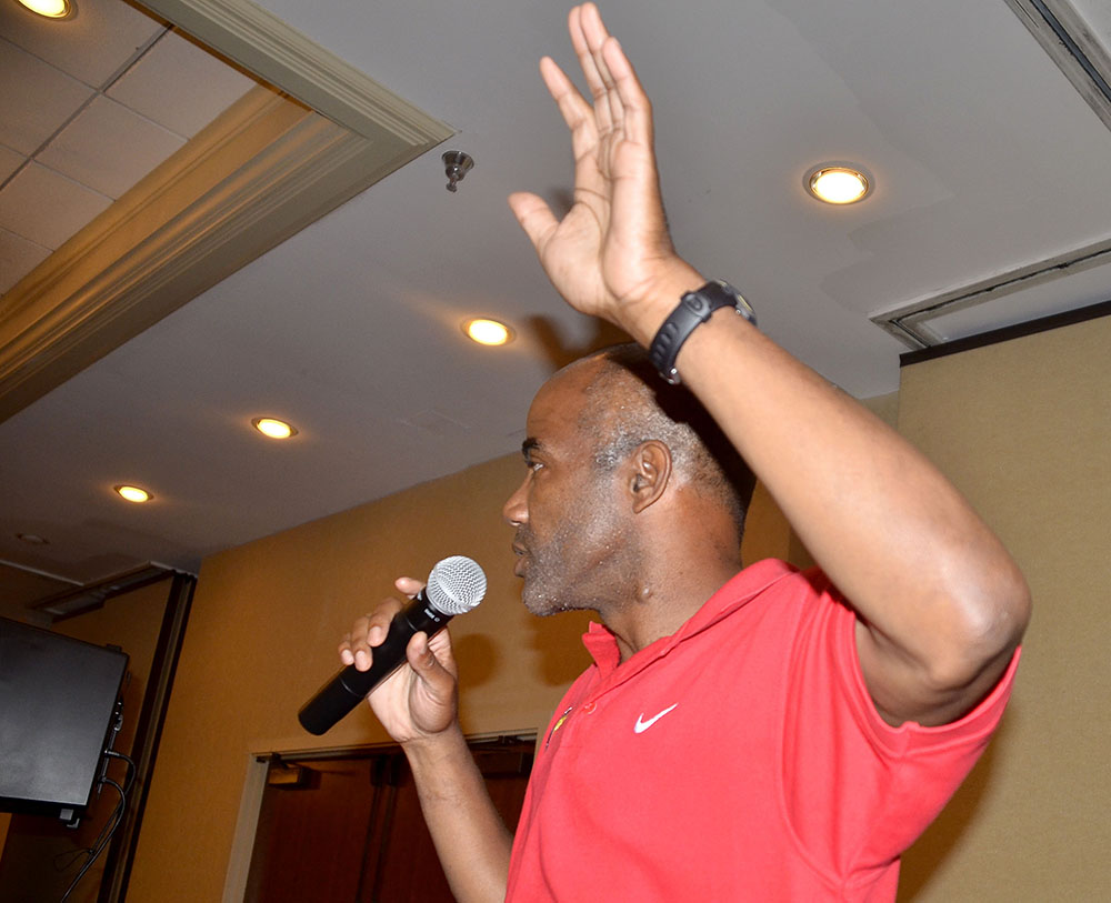 USATF Masters T&F Vice Chairman Robert Thomas says tells athletes party he'll run for national masters chair.