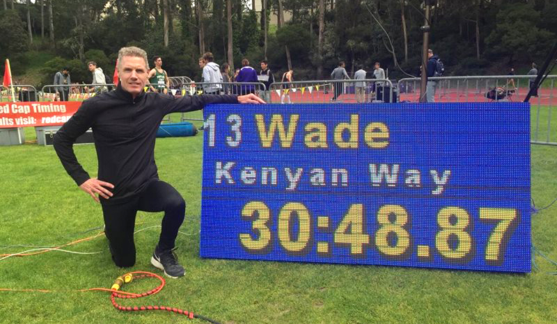 Sean Wade of Kenya Way, his coaching gig, pulled a Rono (also Kenyan) at SF State.