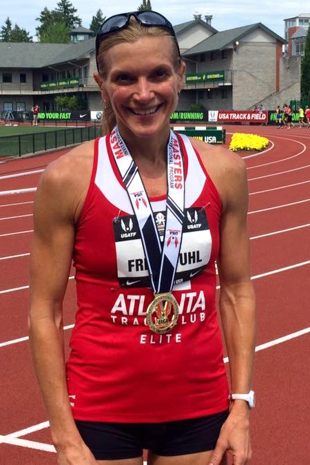 Sonja and her well-earned gold in Eugene.