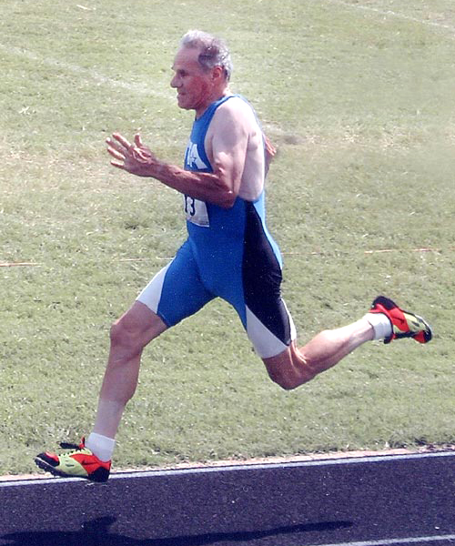 Wayne sprinting 10 years ago. Not much slower now.