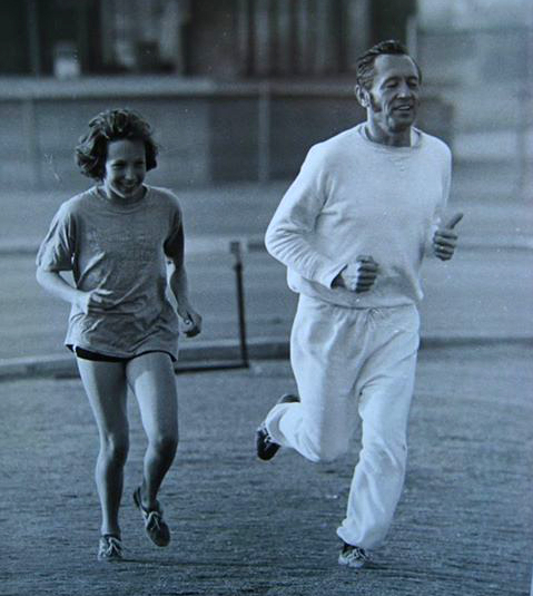Family prized this Don Chadez photo of Ruth running with her dad.