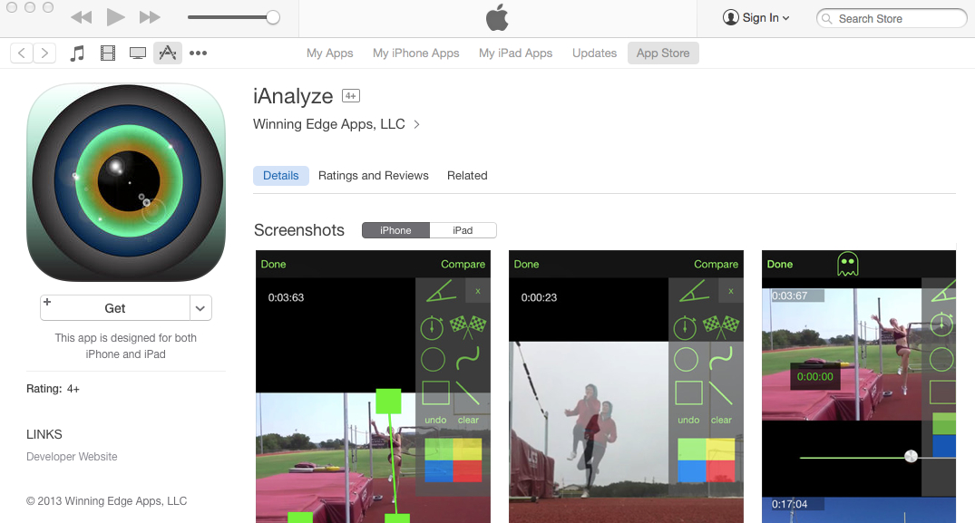 Amy's free app, the latest in her company's production line, is aimed at tech-savvy athletes and coaches.