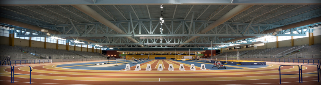 Crossplex banked Mondo track is one of the few of its kind in the United States.