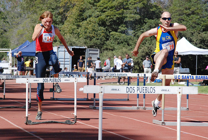 Nadine O'Connor and Jeff Davison battled at 2007 Club West meet.