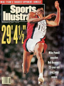 Mike on SI cover after 1991 world record.