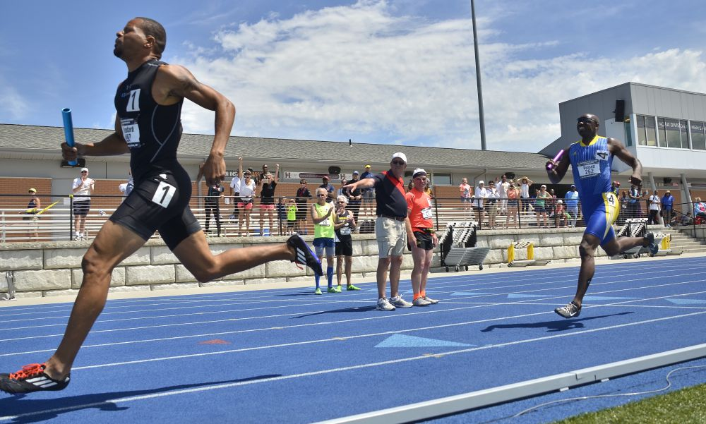 Allen reaches finish line ahead of Antwon in a sizzling relay on a day that dodged rain bullet.