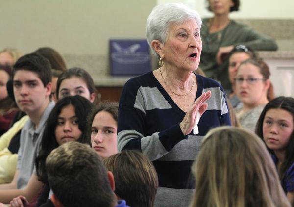 I covered a school visit by Auschwitz survivor Rose Schindler last week.