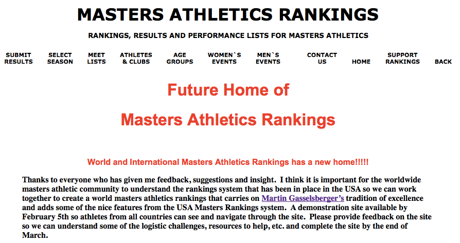 Placeholder for new world rankings site. Self-serve.