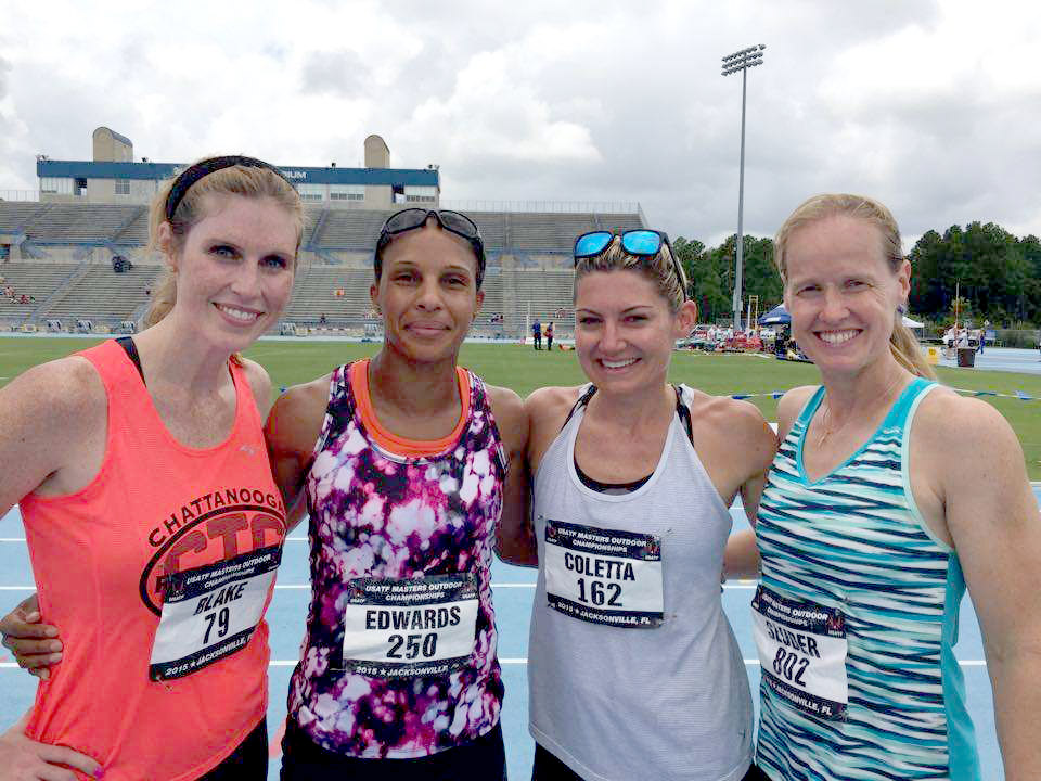 Your W35 shuttles American record-holders: Melanie, Lisa, Shara and Anne.