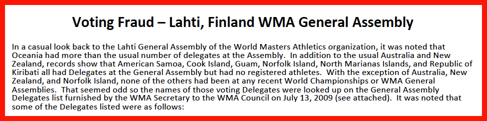 Top of memo that raises questions about Lahti voting in 2009.