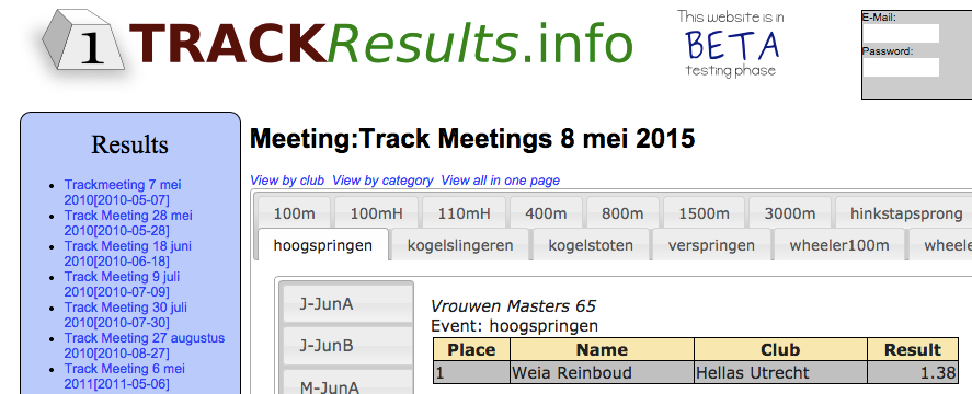 Weia's record was set among other jumpers in other age groups.