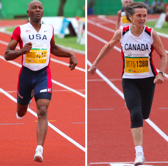Charles and Christa won their sprint finals by miles in Porto Alegre. Photos by Doug Smith