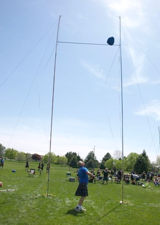 Lee Fugal of Utah broke the Scottish Highland Games world record in the senior master category when he threw a 16 pound sheaf bag 28-feet and 9-inches May 3 at the fifth annual Highland Games and Diversity Faire at the College of Southern Idaho.